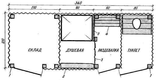 Хозблок на даче своими руками чертежи размеры
