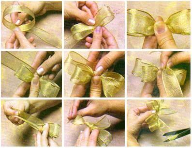 Как сделать бантик на платье