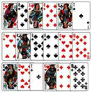 Гадание 6 карт в 6 рядов