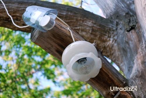 Освещение установили на фотоэлементах, всего 4 фонаря б/у.  Запитали фонари от квартир.