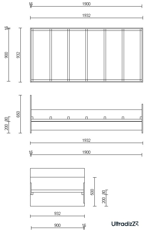 Четыре простых прямоугольных детали из моих остатков материала отрезали в мебельном цеху за символическую плату в...